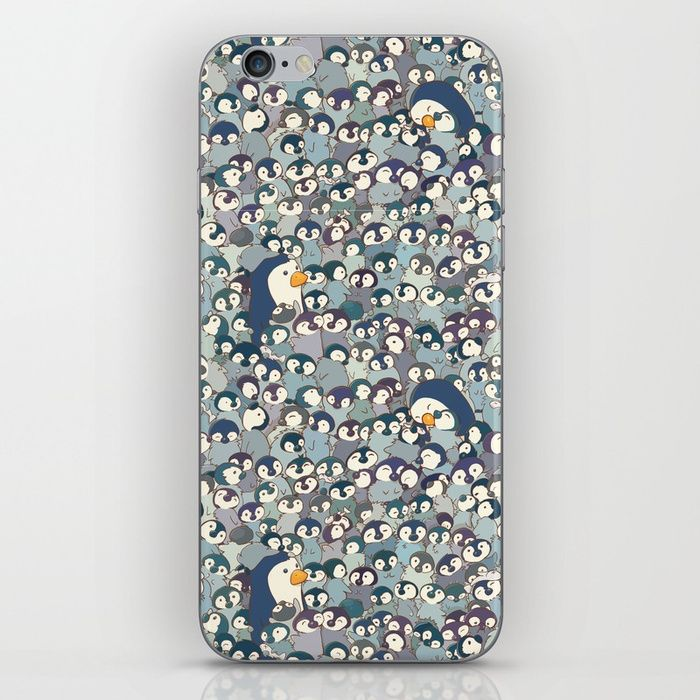 Buy Baby Penguin Pattern iPhone Skin by strijkdesign. Worldwide shipping available at Society6.com. Just one of millions of high quality products available.