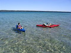Torch Lake Michigan - 3rd most beautiful lake in the world per NG...who would imagine that could occur in Michigan