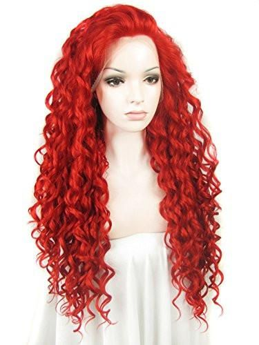 Item name---Fashion Sexy Women's Lace Front Wigs Long Red Curly Wavy Heat Resistant Synthetic Full Hair Lovely Party Wig N18 3100  <  Cap Construction---Lace Front Cap  Material---Pretty Natural and soft,100% heat resistant synthetic fibers  How to wear?  1. Take wig out from the packing, give it a few good shakes to release the default style.  2. Remove earrings and comb your own hair to remove knots and tangles.  3. Wrap your own hair tightly into a high ponytail and wrap a hairb...