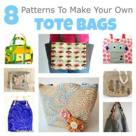 8 Patterns To Make Your Own Tote Bags — craftbits.com