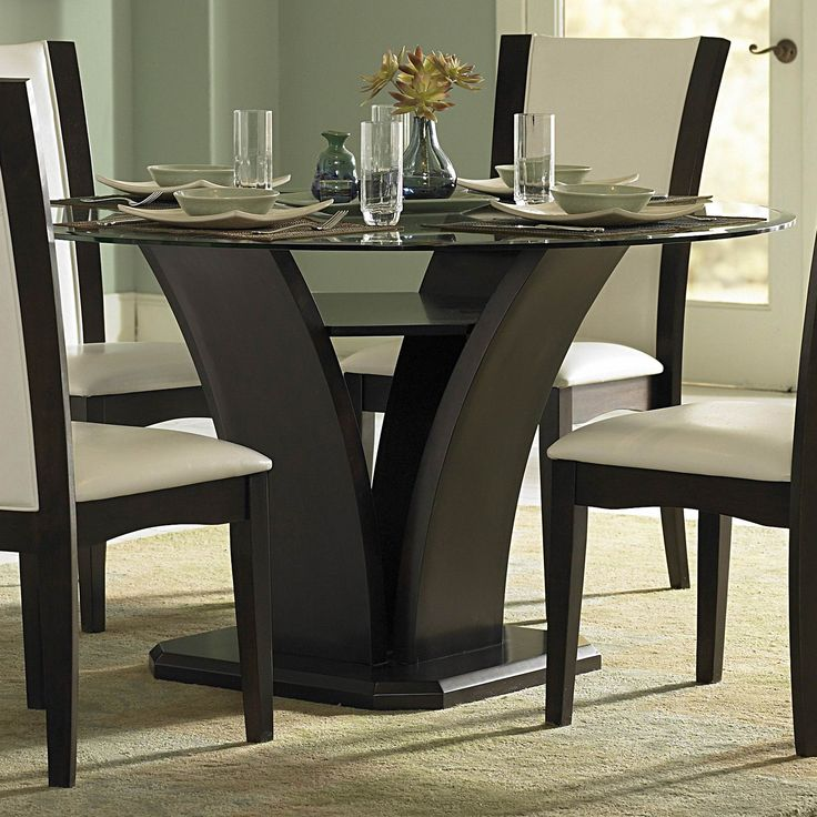 Superbe Glass Round Espresso Dining Table | My Style | Pinterest | Espresso,  Pasadena Apartments And Future House