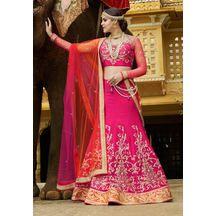 Pink Color Silk Hand Craft Bridal Lehenga With Jewellery (kandola) And Semi-stitched Designer Choli From Lagna Shringar Buy World Of Style  Rs.14,6700