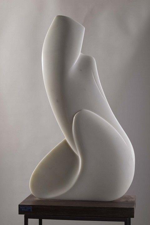 Risveglio II – Carrara marble sculpture by Italian artist Giancarlo Franco Tramontin, 2015