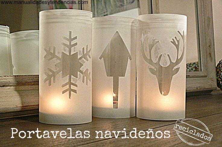 Reciclaje: Portavelas navideños / Recycled Christmas candle holders | Aprender manualidades es facilisimo.com