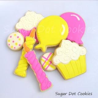 Sugar Dot Cookies: Happy Birthday Sugar Cookies