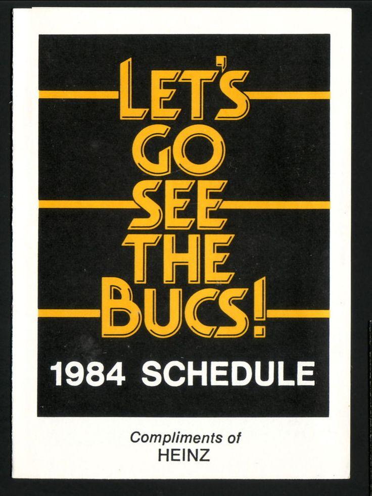 1984 Pittsburgh Pirates ScheduleHeinz Ketchup