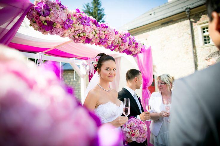 Svatební obřad - krásná nevěsta Lenka