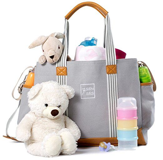 Baby Diaper Bag for Girls and Boys - Large Capacity Nappy Bag Plus Changing Pad, Stroller Straps and 10 Pockets - Best Baby Shower Gift