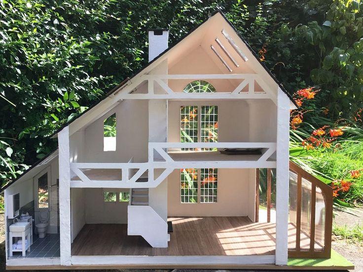 Lovely Unusual Scale Greenleaf U0027Brookwoodu0027 Dolls House For Completion