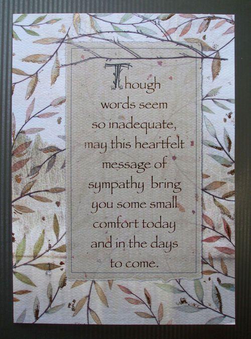 Sympathy Card wording