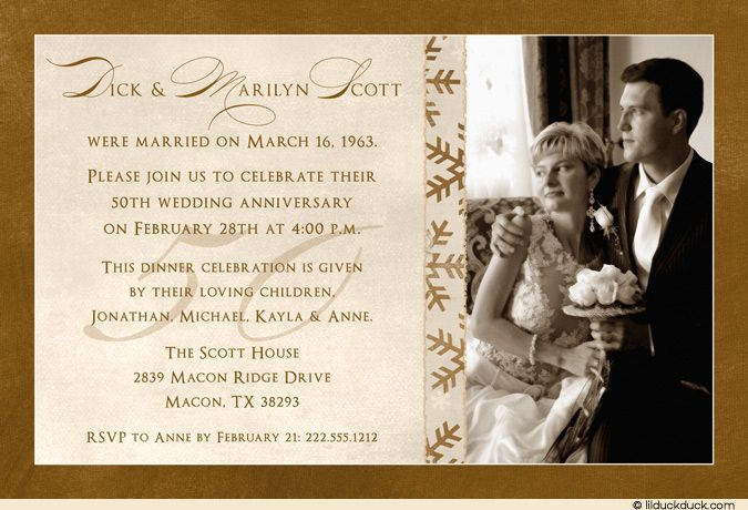 Religious Wedding Invitation Wording: Religious Anniversary Party - Google Search