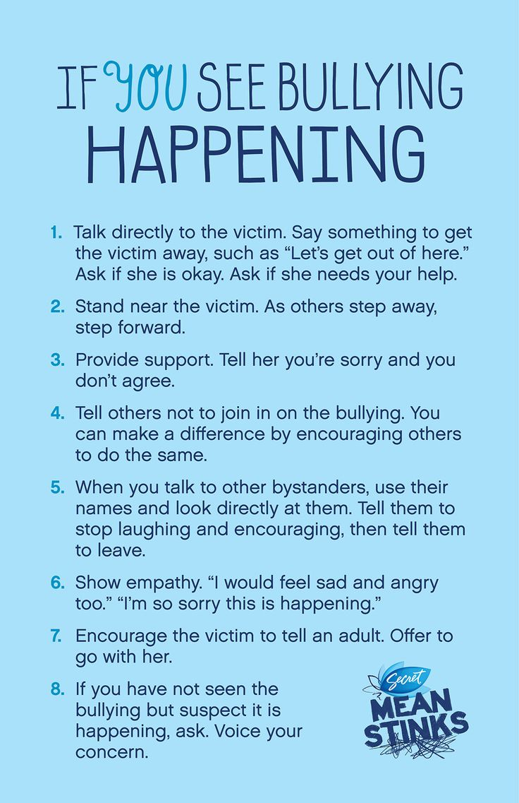 What to do if you see bullying happening