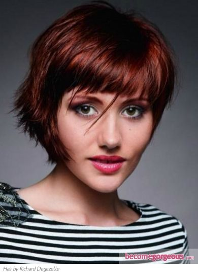 22 Best Straight Bangs Hairstyles Images On Pinterest