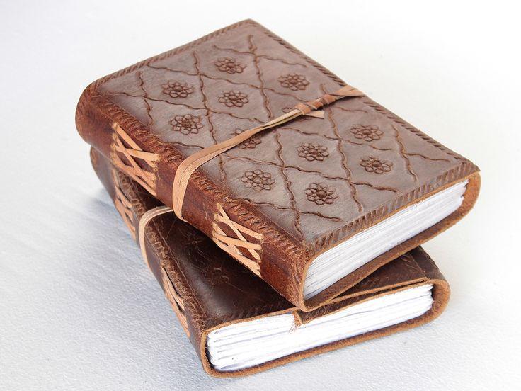 Handmade Leather Embossed Journal from Scaramanga