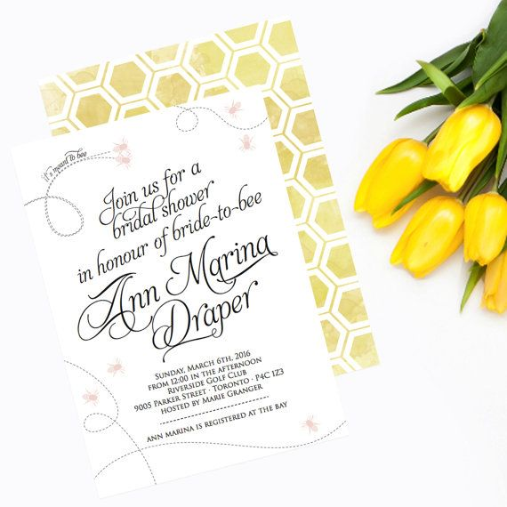 Bridal Shower Invitation  Meant to Bee Bridal by GetUninvited