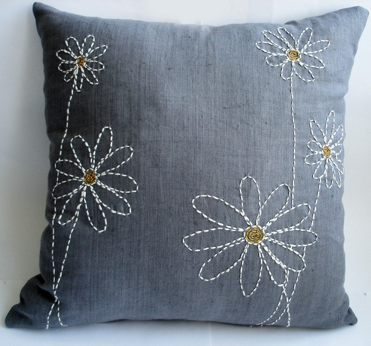 Flowers Pillow Cover - 16x16. $49.95, via Etsy.
