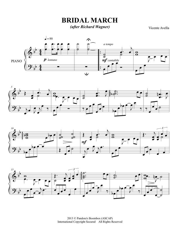 Bridal March Sheet Music Piano ScorePiano MusicSheet MusicWedding