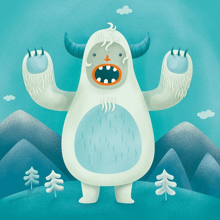 Yeti illustration, 2017