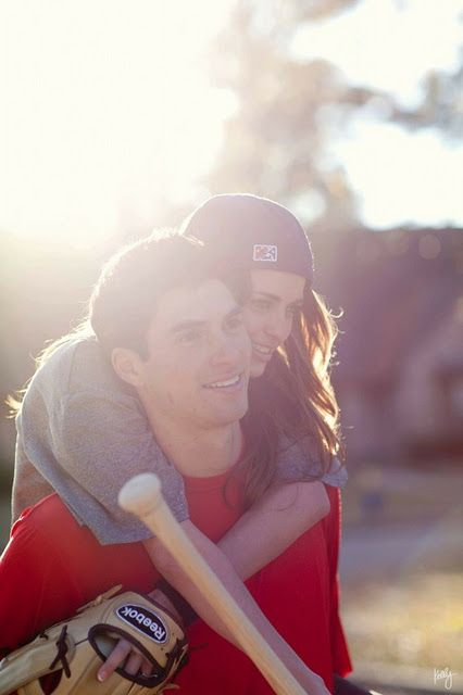 Baseball love. Adorable photo pose
