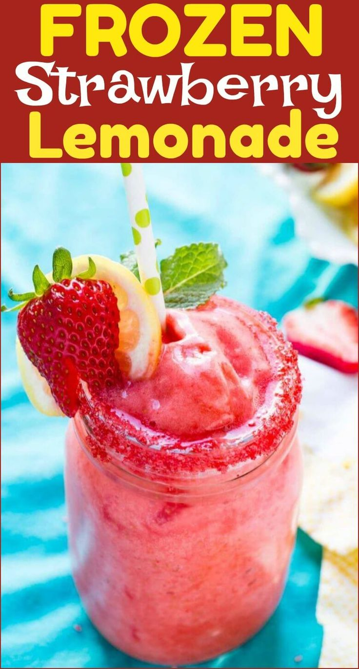 The months are getting warmer and I've been looking for healthier frozen treats recipes to beat the heat. This Frozen Strawberry Lemonade is our favorite! THM:FP via @ohsweetbasil