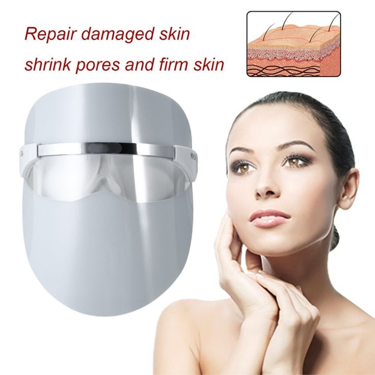 32 LEDs Light Beauty Face Mask Facial Electric Skin Photon Care Boost Blood Circulation Red LED. Click visit to buy