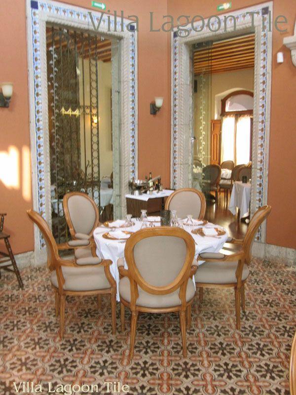 Avallon cement tile in an elegant restaurant