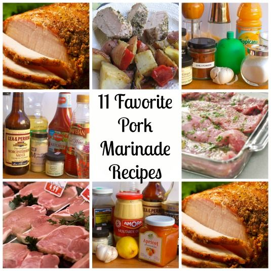 11 Favorite Pork Marinade Recipes. Most of these would be fine for any type of protein.
