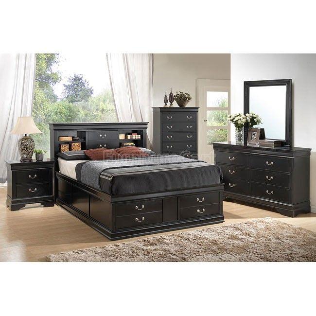 Fresh Louis Philippe Storage Bedroom Set Black Style - Model Of coaster bedroom furniture HD