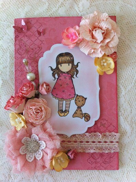 girlie B day card (custom made)