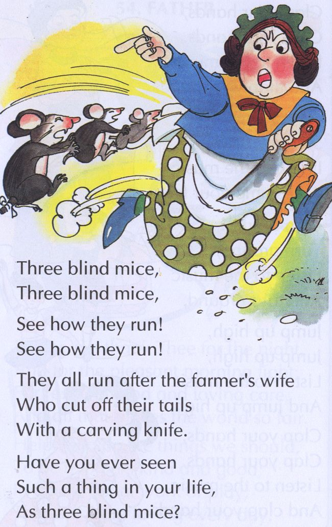 Three Blind Mice From Www Telugukidstories Nursery Rhymes Ilrations Pinterest And Poems