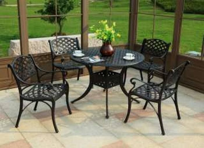 Home Depot Patio Furniture Dining Set With Images Iron Patio