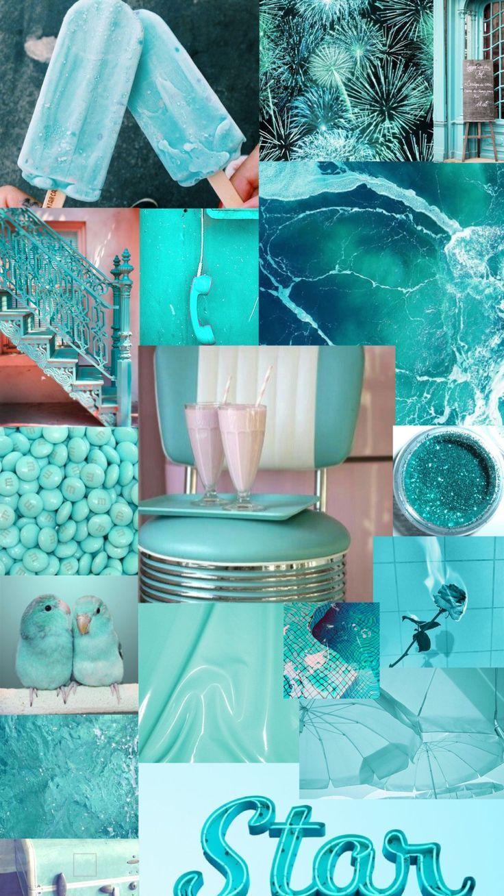 turquoise aesthetic background -  -