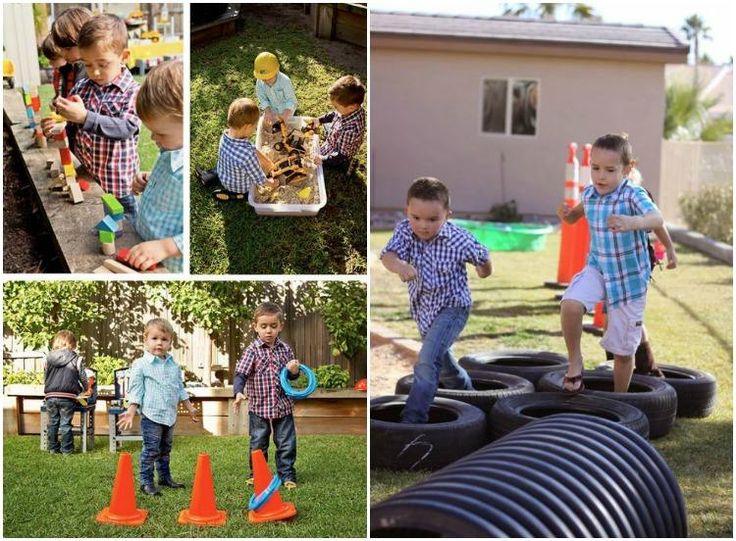 Baustelle Party zum Kindergeburtstag - Spiele für draußen