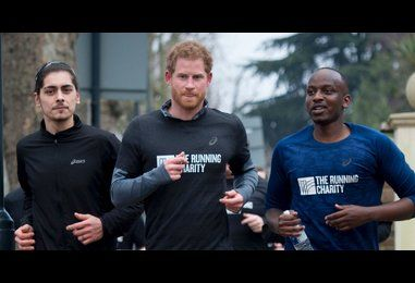Prince Harry breaks a sweat going for a run with London's homeless youth