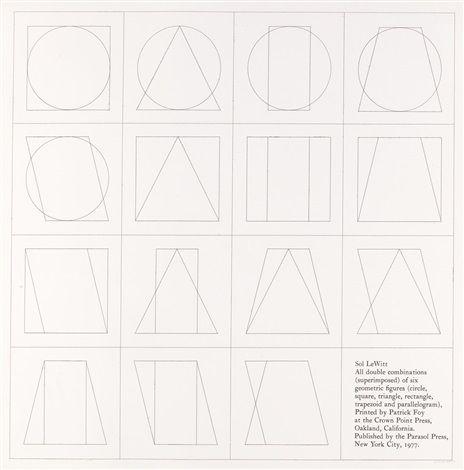 Sol LeWitt todas as combinações duplas de seis formas geometricas - Galeria de A inspiração de I.M. Pei: uma comparação de sua arquitetura com a arte minimalista - 11