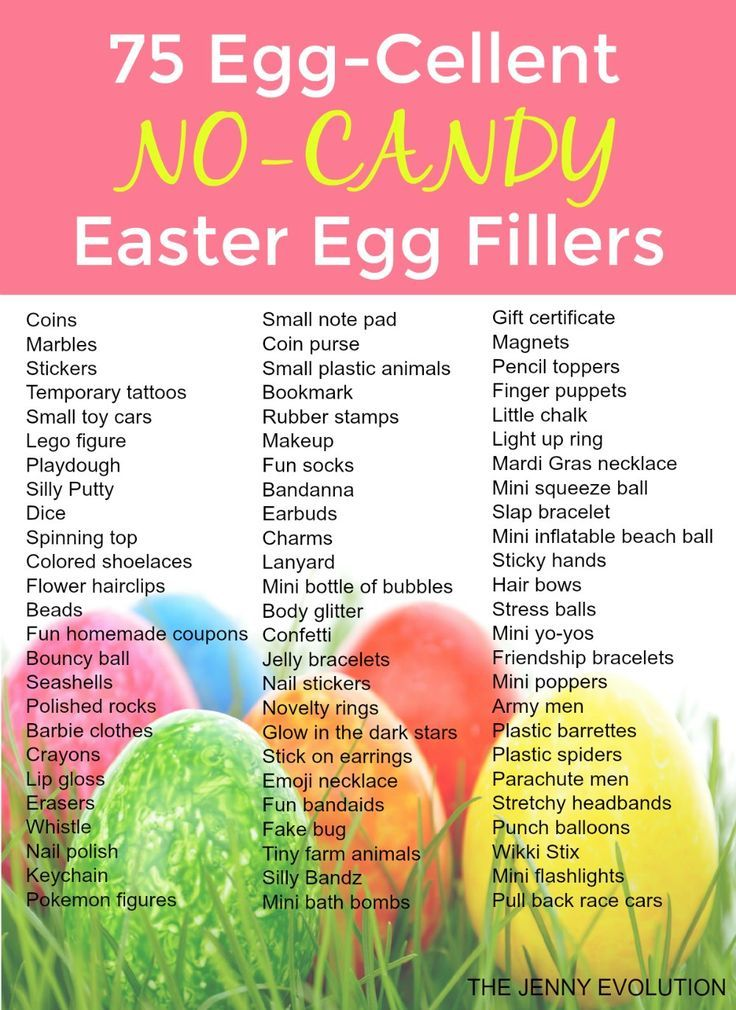 75 Egg-Cellent Non Candy Easter Egg Fillers - Perfect for filling Easter baskets with no food!   The Jenny Evolution