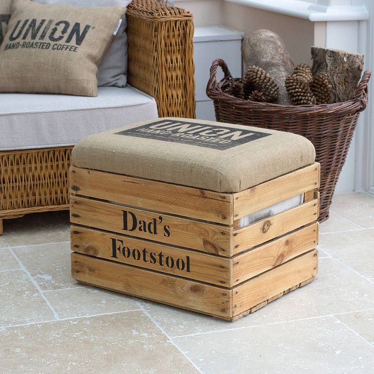 personalised storage box seat/footstool by the comfi cottage | notonthehighstreet.com