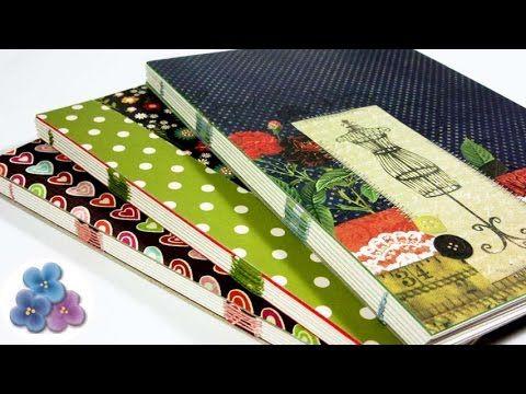 Como Hacer Encuadernacion Casera Facil Cuadernos 120 paginas Tutorial DI...