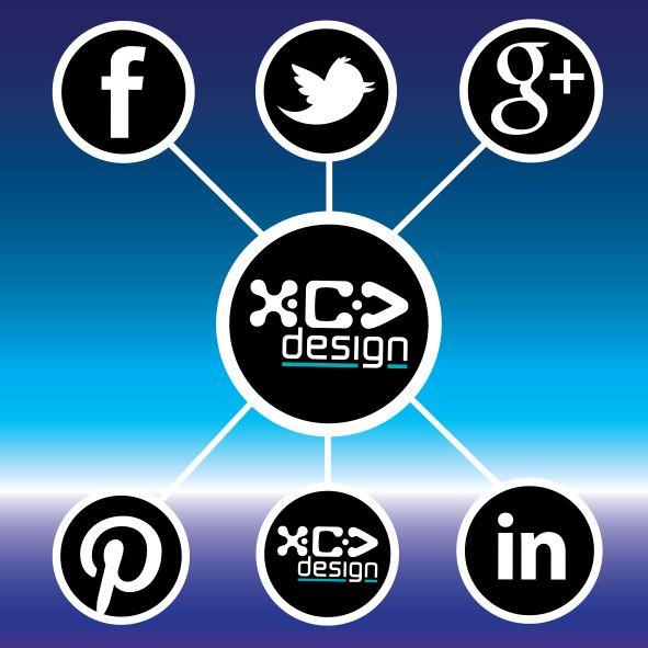 """How Social Are You?"" - Social Media Banner Artwork • © XCV DESIGN"