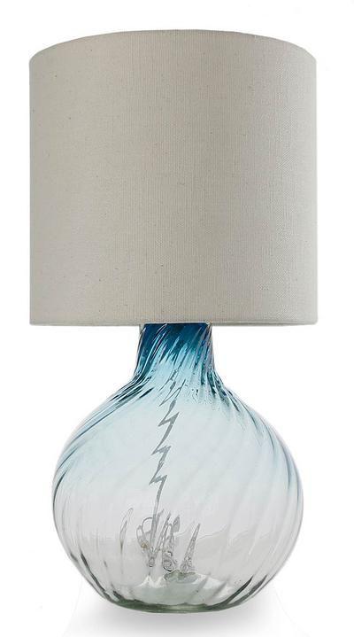 Blown Glass Table Lamp, U0027Aquamarine Enchantmentu0027 By NOVICA