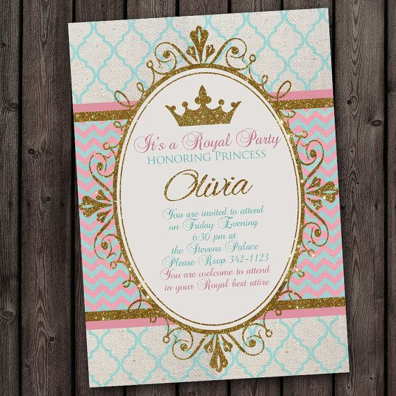 Hey, I found this really awesome Etsy listing at http://www.etsy.com/listing/175791576/princess-invitation-royal-party-gold