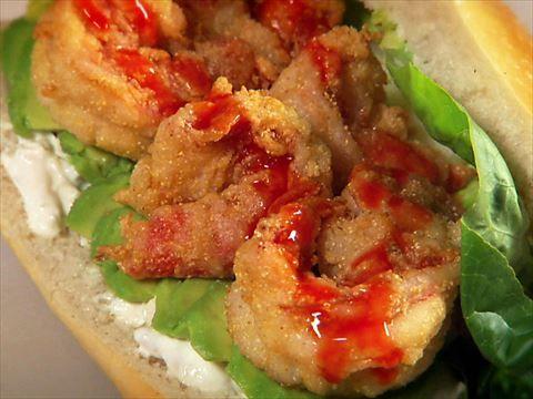 A Crispy Tiger Prawn Sandwich transports Guy's taste buds to the Bayou.