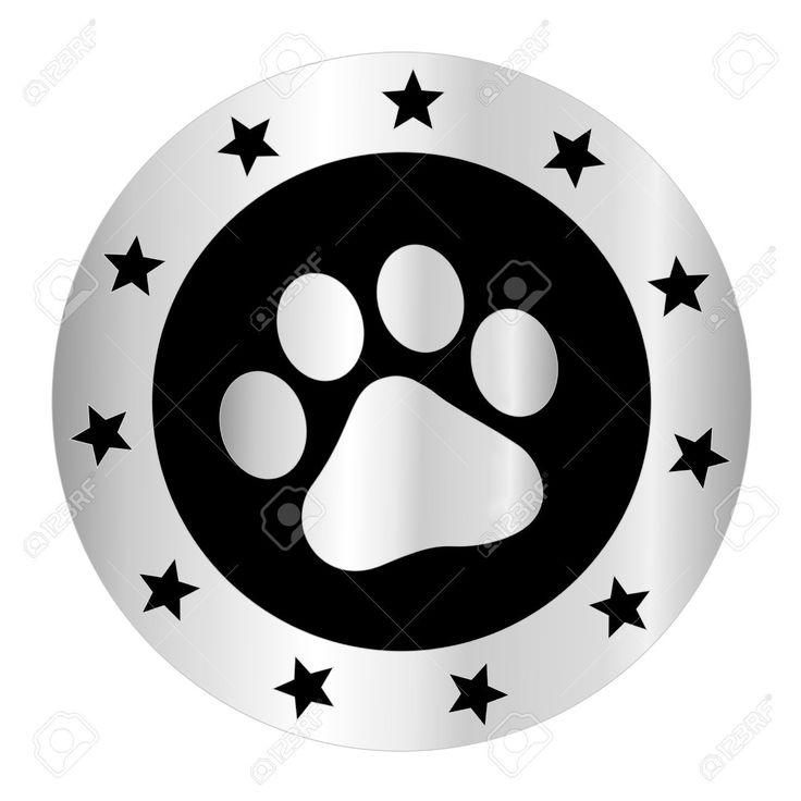 Tiernas Mascotas [perros Y Gatos] Plata Pata De Impresión Logo ...
