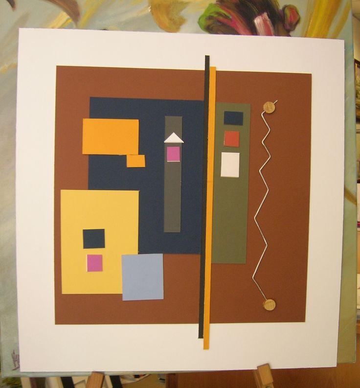 Colage, obra en cartón