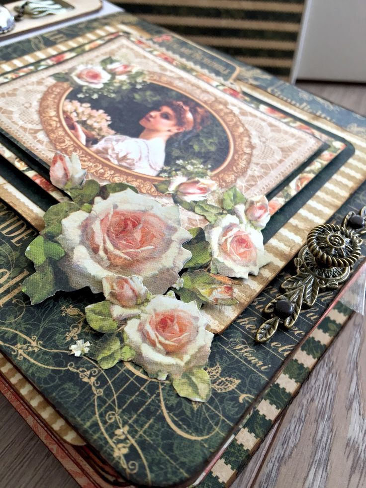 Heritage Family Scrapbook Album & Box by Marina Blaukitchen featuring Portrait of a Lady by Graphic 45!