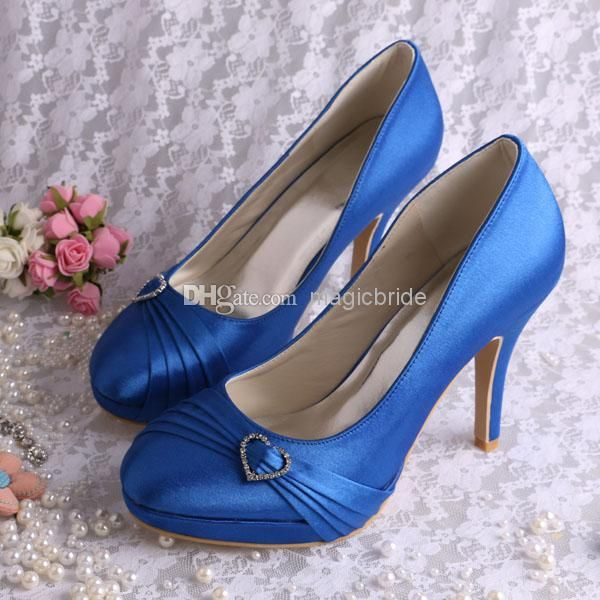 Custom Handmade 2014 Celebrity Women Royal Blue High Heel Shoes Bridal Pumps From Magicbride, $25.44 | Dhgate.Com
