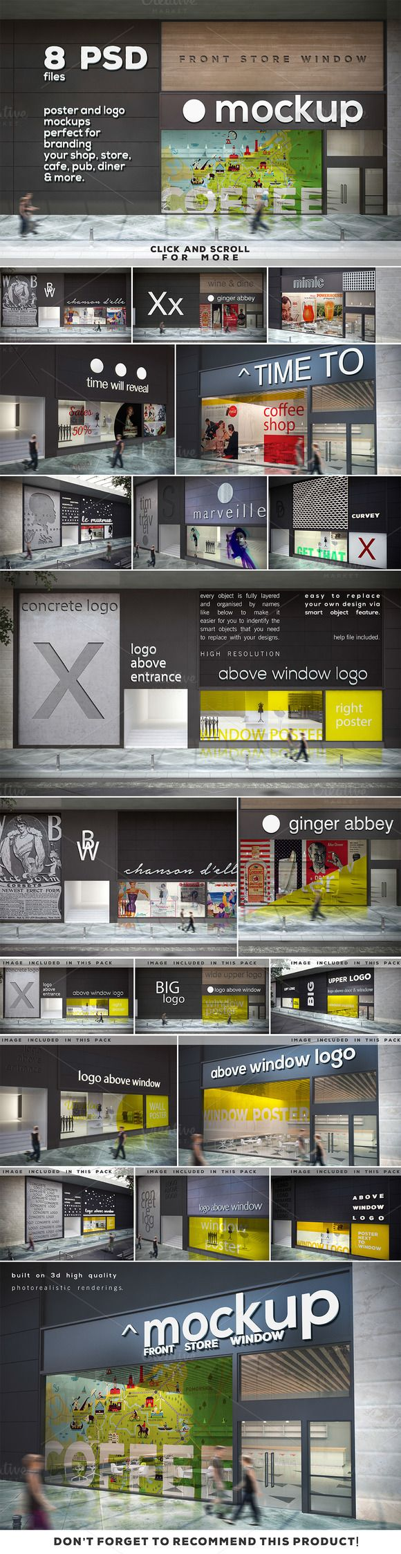 Poster & Logo Mock-up Vol.5 - Shop by DESIGNbook on Creative Market