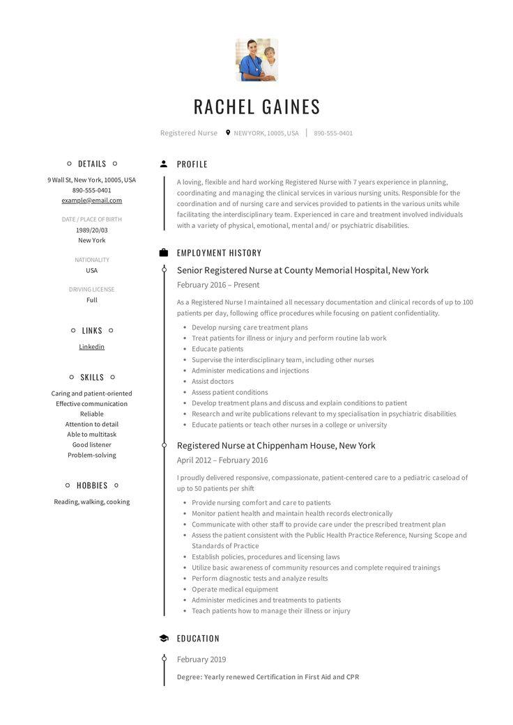 65registered nurse resume objective statement in 2020