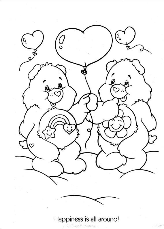 printable grumpy bear coloring pages - photo#20