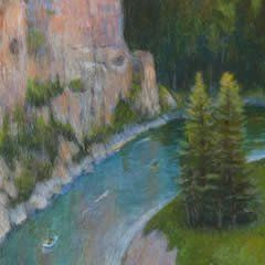Smith River Surround #acrylic-on-panel #acrylic-painting #altered-state #art #artist #boat #boats #cliffs #eastern-montana #floating #holter #holtermuseum #june #landscape #montana #montana-state-parks #monte-dolack #moon #museum #museum-of-art #original-painting #painting #painting-on-panel #park #path #raft #rafting #rafts #river #rocky-mountains #row #smith #smith-river #smithriver #state-parks #summer #super-moon #surround #water